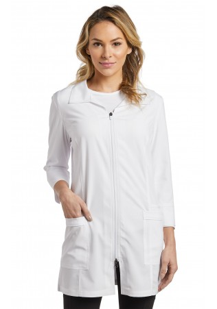 SARRAU DE LABORATOIRE FEMME - FIT - WHITE CROSS